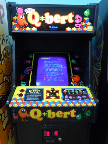 04-21-12 Rusty Quarters Arcade, Minneapolis, MN (Q*bert)