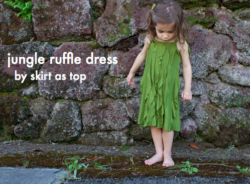 jungle ruffle dress tutorial // skirt as top