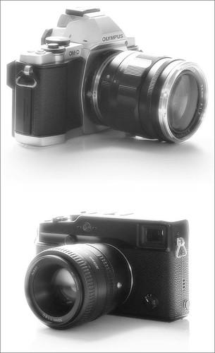 Fuji X-Pro 1 Nikon 50mm and Olympus OM-D Voigtlander 35mm