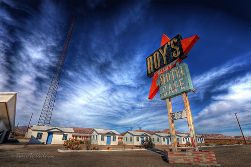 Roy's Motel & Cafe on Route 66, Amboy, CA in HDR