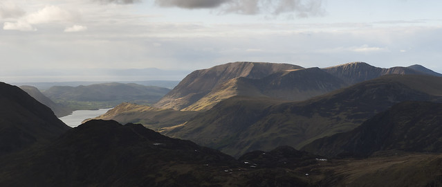 Grasmoor Panorama from Great Gable