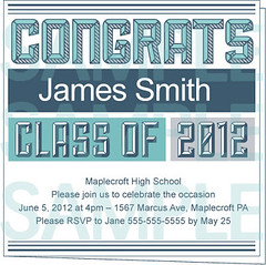 Masculine Blue Printable Graduation Party Invite