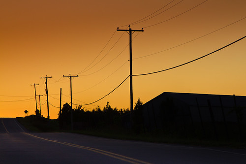 ciel chemin poteaux brunante filsélectriques