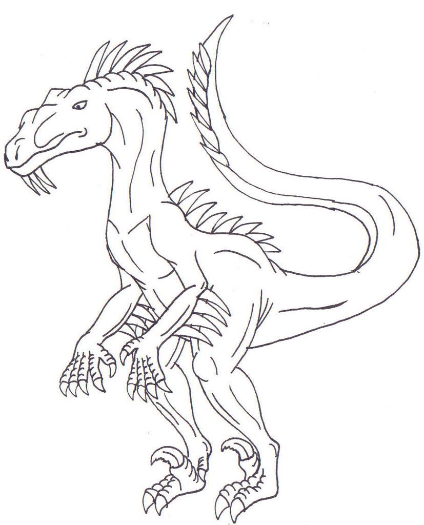 Pin utahraptor colouring p on pinterest for Utahraptor coloring page
