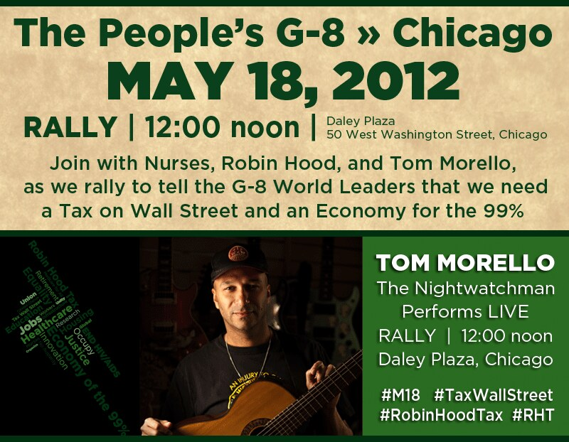 Rally Banner with Tom Morello
