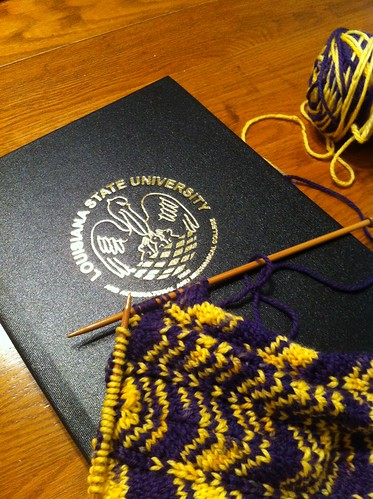 LSU Scarf--Nearly Complete!