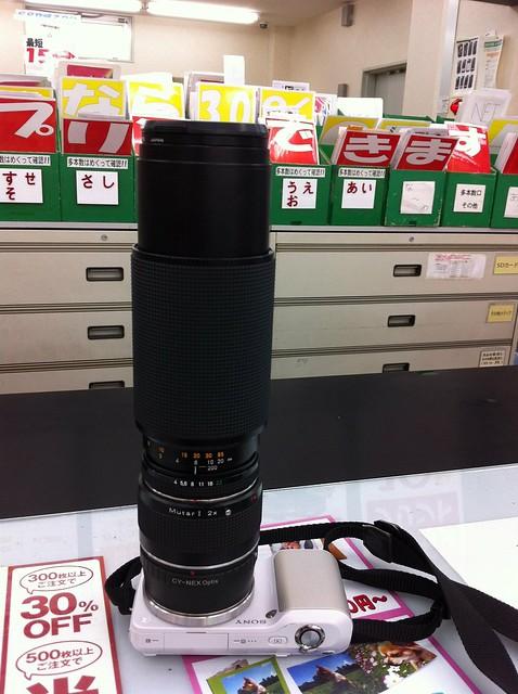 NEX-3 CONTAX Vario-Sonnar 80mm-200mm F4 + Mutar 1