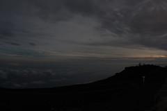 View of Haleakalā Observatories in night