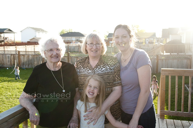 13 May 2012: 4 generations of girls