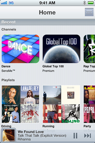 Sony Music Unlimited para iOS