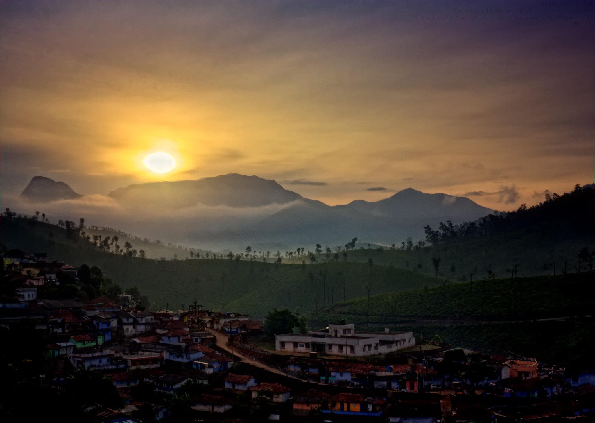 Sunrise, Valparai ( Color Version )