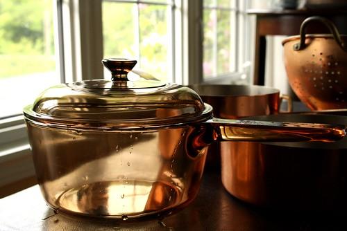Copper & Pyrex Pots
