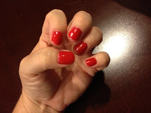The manicure after a week (and this week included cleaning out the garage!)