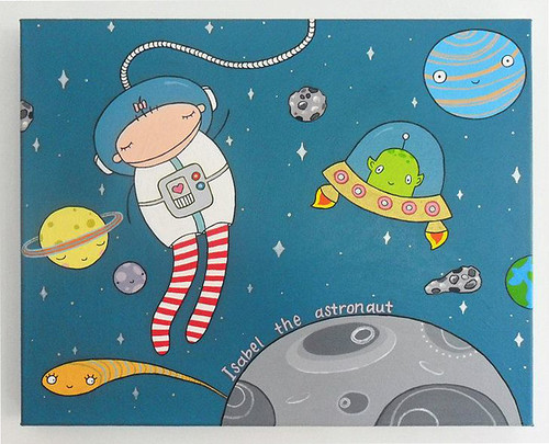 Isabel the Astronaut painting