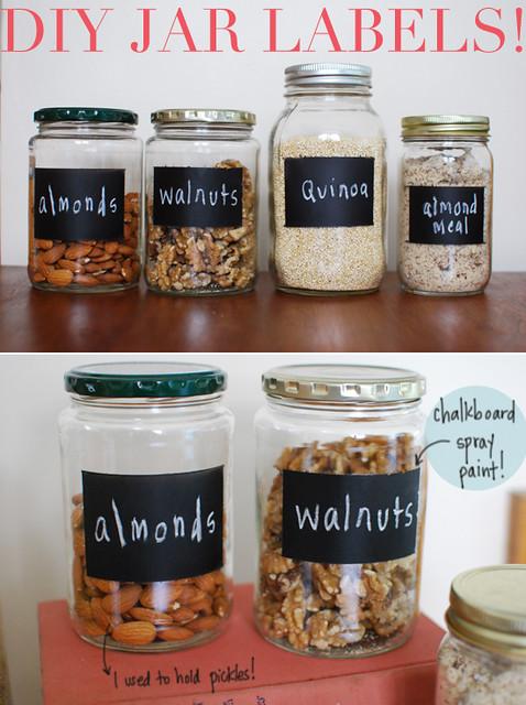 Diy chalkboard jar labels inspiredtoshare flickr photo for Diy chalk labels