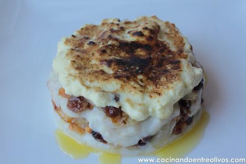 Milhojas de bacalao con gratinado de alioli (1)