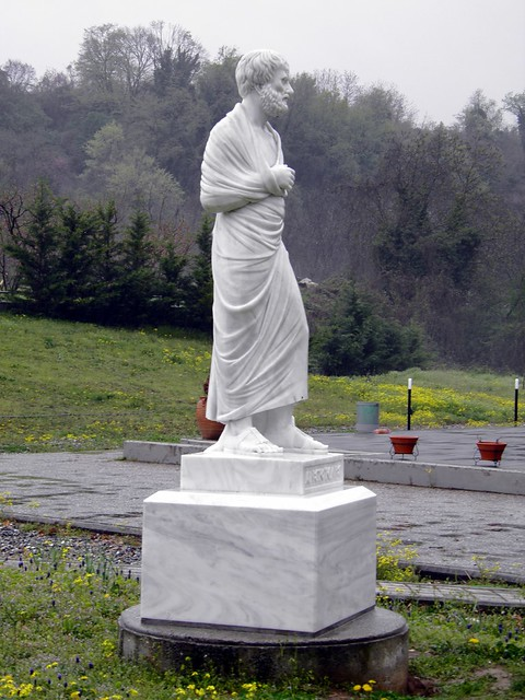 The statue of Aristotle near the entrance, The School of Aristotle (The Lyceum)