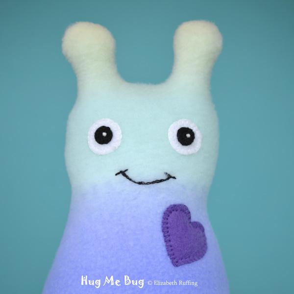 Rainbow Hug Me Bug, original art toys by Elizabeth Ruffing