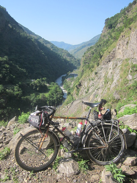 my bike above Chamje