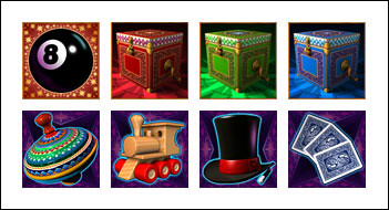 free Magic Boxes slot game symbols