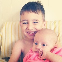 He loves his sister!!