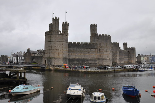 Across the harbour to Caernarfon castle