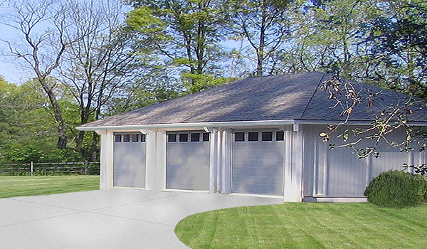 Topsider homes prefab 3 car garage kit this 1 100 sq ft for Home designs 3 car garage