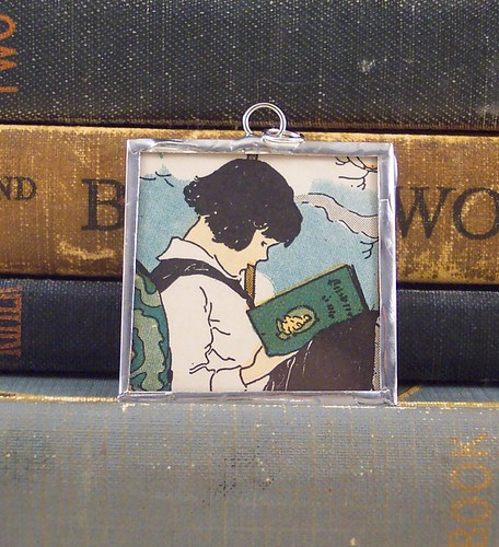 Child Reading Pendant