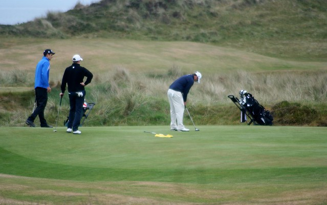 Golfers at Western Gailes