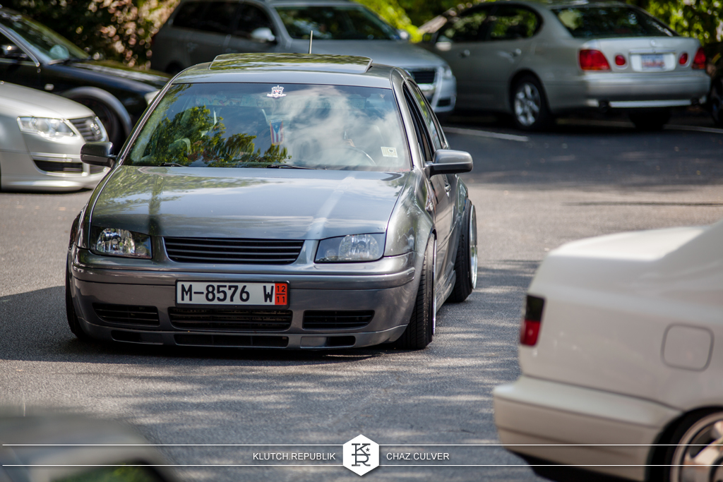 grey mk4 vw jetta low fitment at southern worthersee 2012