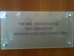 Photo of BBC Media Village clear plaque