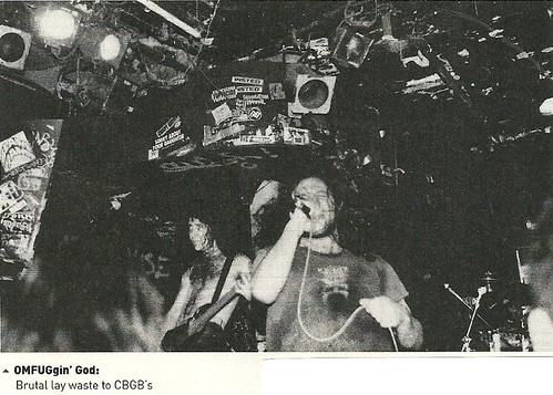 (Undated) Brutal Truth at CBGB