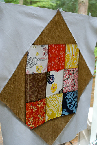 Pineapple Log-Cabin Block2