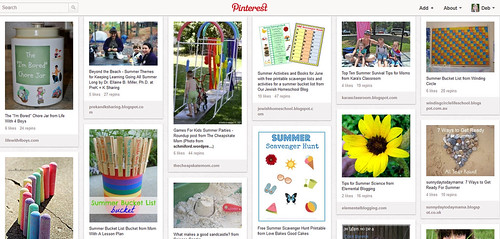 Summer Fun Pinterest Board