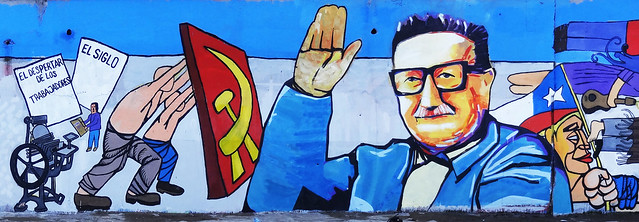 Los muros nos hablan mural partido comunista de chile for Mural metro u de chile