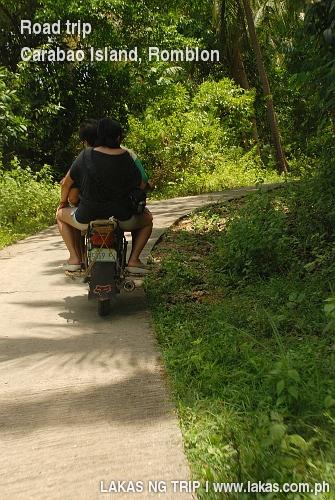 Road trip on a motorcycle at Carabao Island, Romblon