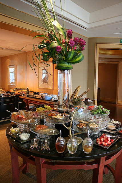 A good selection of breakfast items at the Ritz-Carlton Club