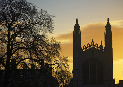 uk cambridge england college sunrise dawn chapel kings