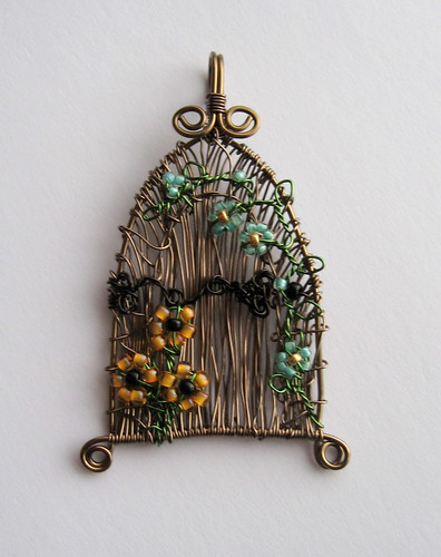Fairy Door Pendant by Louise Goodchild