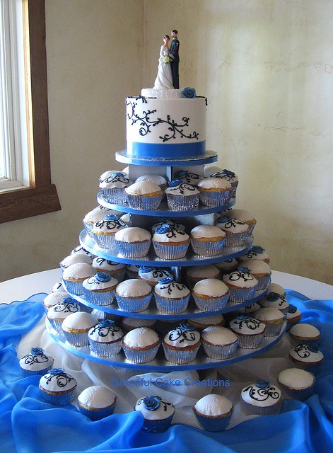 Cobalt Blue Wedding Cakes