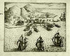 <p>Zeeslag waarbij de Portugezen bij Ambon verslagen werden. Van der Haghen had als admiraal de leiding over de VOC vloot.</p>