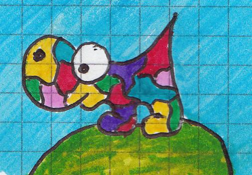 un animal avec des couleurs