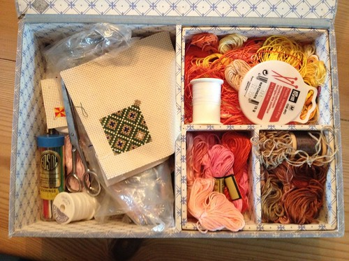 Inside my old sewing box