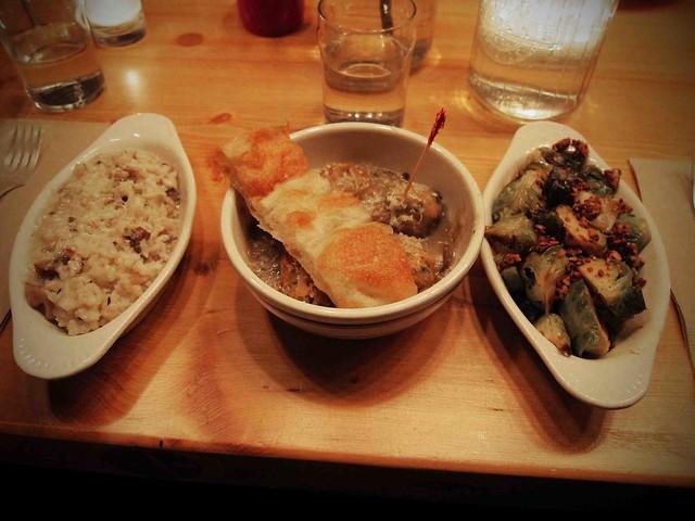 risotto, naked balls, & artichokes