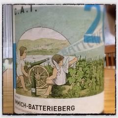 ドイツワインとは思えない楽しいラベルですよ。