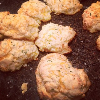 I made my own cheddar biscuits just like those from Red Lobster or Ruby Tuesday's...and they were quite yummy!