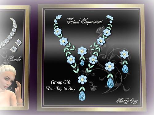 Virtual Impressions ~ Group Gift Anita in Aqua Shades by Cherokeeh Asteria