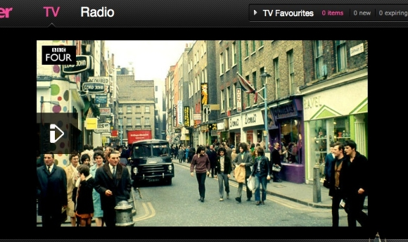 Kleptomania in shot on BBC iPlayer homepage for London On Film series