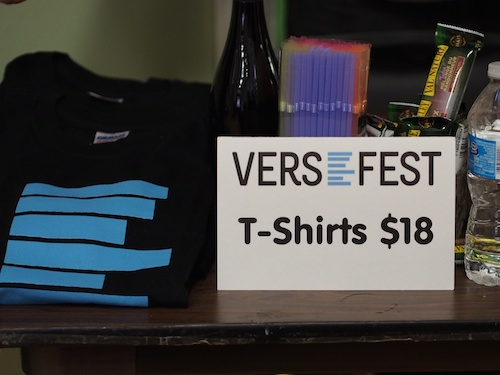 versefest tshirt & concession