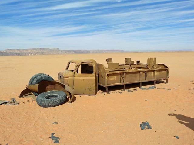 Camión Chevrolet de la II Guerra Mundial en el Desierto Líbico (Egipto)